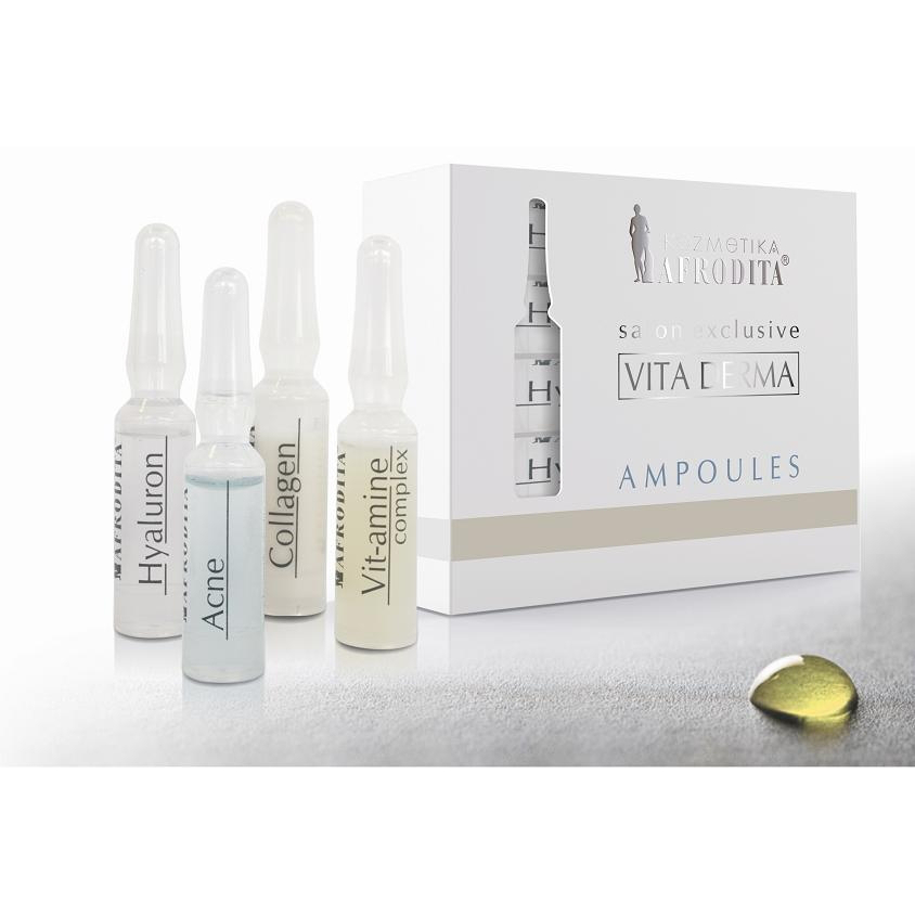 Cosmetica Afrodita - Fiole COLLAGEN VITA DERMA 5 fiole x 1,5 ml imagine produs