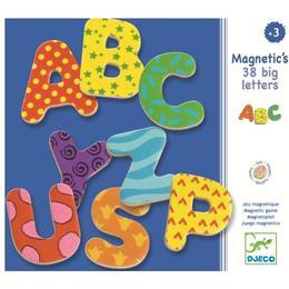 38 litere magnetice colorate pentru copii - Djeco