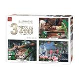 Puzzle 3x1000 piese Animal Collection