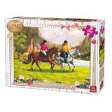 Puzzle 100 piese Gallop In The Meadow