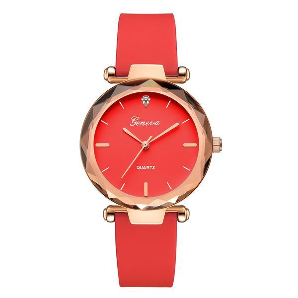 Ceas de dama Geneva, stil Fashion, curea silicon, CS997