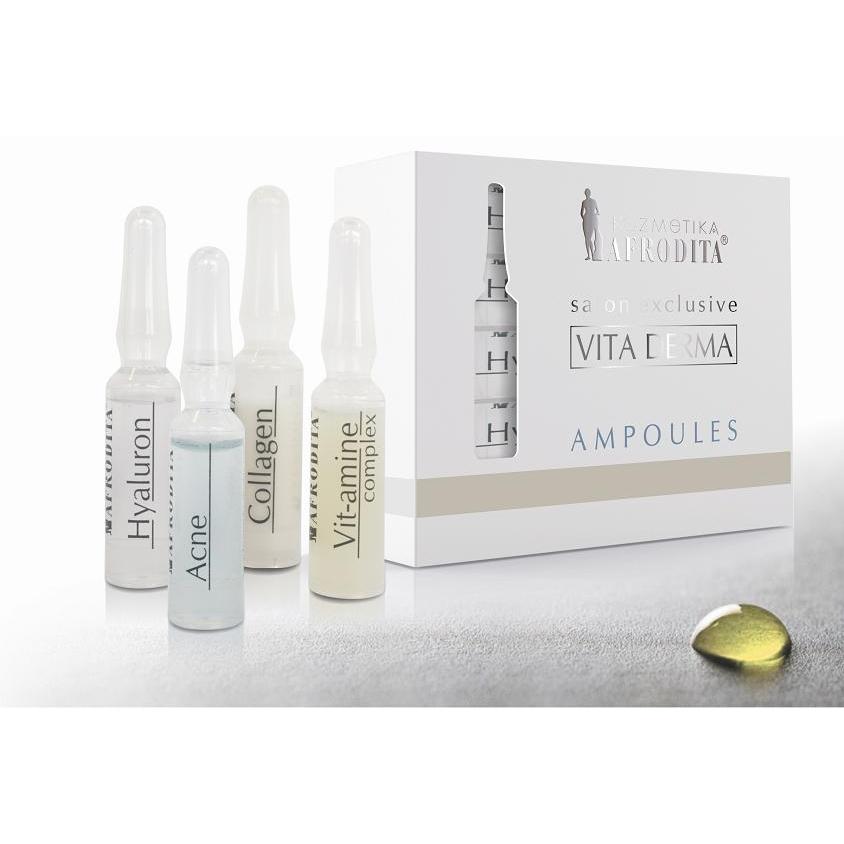 Cosmetica Afrodita - Fiole VIT-AMIN COMPLEX VITA DERMA 5 fiole x 1,5 ml imagine produs