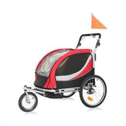 Remorca bicicleta Samax Premium - rosu
