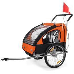 Remorca de bicicleta Samax - portocalie