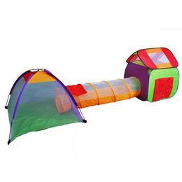 Tunel cu corturi de joaca model iglu, portocaliu - Damp;amp;S