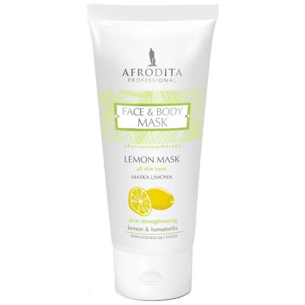 Cosmetica Afrodita - Masca cu lamaie pentru fortificarea oricarui tip de ten/piele 200 ml imagine produs
