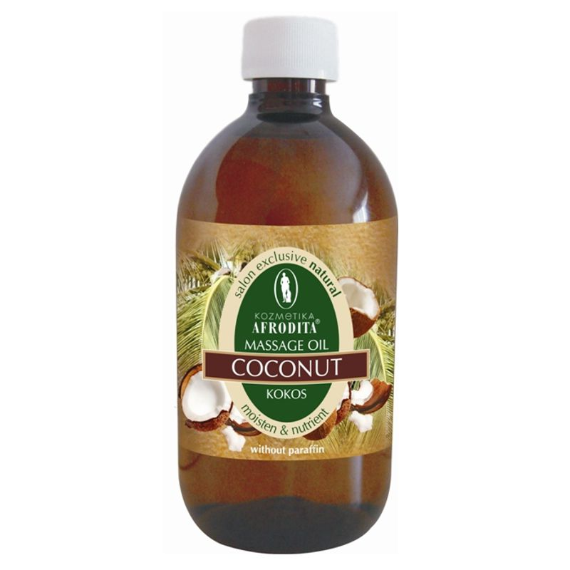 Cosmetica Afrodita - Ulei masaj facial si corporal din nuca de cocos 500 ml imagine