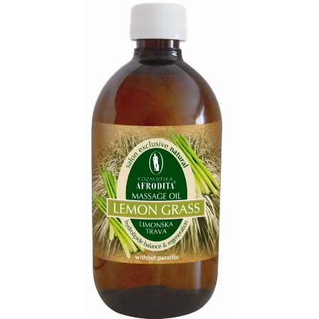Cosmetica Afrodita - Ulei masaj facial si corporal Lemongrass 500 ml imagine