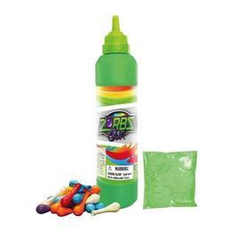 Set baloane Zorbs Color cu sticla, baloane si praf colorat verde