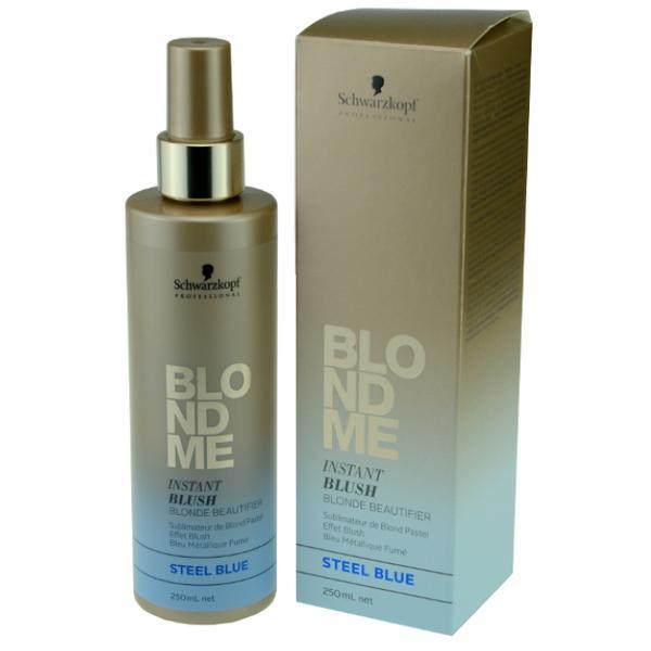 Spray Nuantator pentru Par Blond - Schwarzkopf Blond Me Instant Blush Blonde Beautifier Steel Blue, 250ml