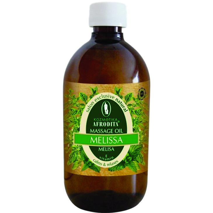 Cosmetica Afrodita - Ulei masaj facial si corporal Melissa si vitamina E 500 ml imagine