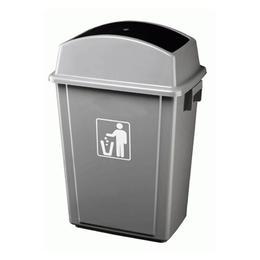 Cos RAKI ICIKALA PROFI pentru gunoi cu capac batant 40L 41x28x60cm culoare gri