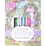 Sa coloram unicornii in culori pastel