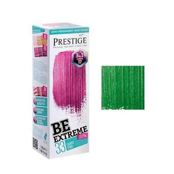 Vopsea de Par Semi-Permanenta Rosa Impex BeExtreme Prestige VIP's, nuanta BE50 Wild Green, 100ml imagine produs