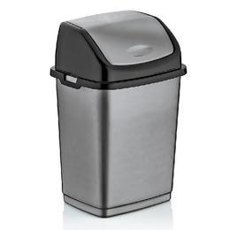 Cos de gunoi cu capac batant RAKI ICIKALA FANTASY 50lt MN0151358, gri-negru