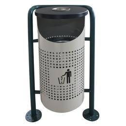 Coș de gunoi în exterior RAKI ICIKALA 36x36x91cm, gri