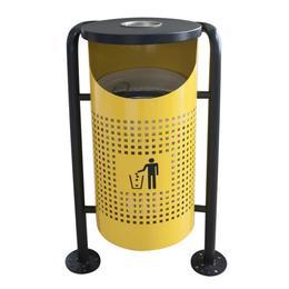Coș de gunoi în exterior RAKI ICIKALA 36x36x91cm, galben