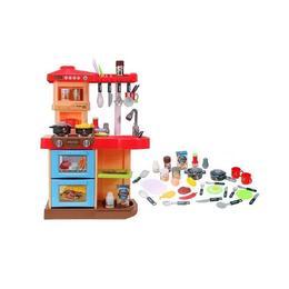 Bucatarie interactiva MalPlay pentru copii cu lumini si sunete, Cuptor, Masina de spalat vase, Hota, + Multiple accesorii
