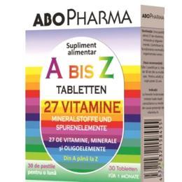 A-Z 27 Vitamine + Minerale si Oligoelemente ABO Pharma, 30 tablete