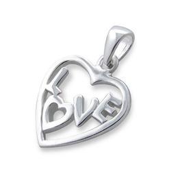 Pandantiv din argint in forma de inima Love, Adorabel