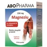 Magneziu 250mg + Vitamina B Complex ABO Pharma, 30 tablete