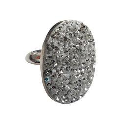 Inel Reglabil XXL Oval Ceralun Cristal