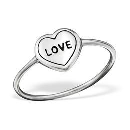 Inel simplu Love, in forma de inimioara, Adorabel, 49 EU, 5 US