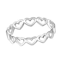 Inel din argint cu inimioare, Adorabel, 52 EU, 6 US