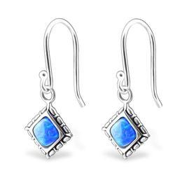Cercei cu Opal din argint, Pacific Blue, Adorabel