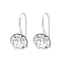 Cercei din argint cu Cristale Swarovski®, White crystal, Adorabel