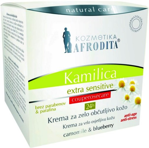 Cosmetica Afrodita - Crema Anticuperozica Camomile Extra - Sensitive 50 ml imagine produs