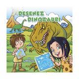 Desenez dinozauri - cu sabloane, editura Nomina
