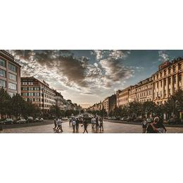 Tablou Canvas cu Orase 750 - 70 x 140 cm