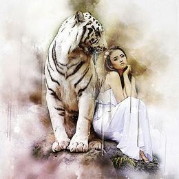 Tablou Canvas cu Animale 002 - 30 x 30 cm