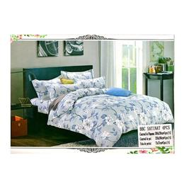 Lenjerie de pat bumbac bleu cu imprimeu Pucioasa 230x250 - 4 piese