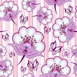 Tapet printat cu flori 029 - 0.5 x 5 m, Hartie blueback fara adeziv