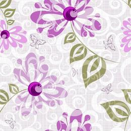 Tapet printat cu flori 028 - 0.5 x 5 m, Hartie blueback fara adeziv