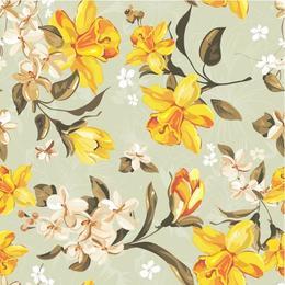 Tapet printat cu flori 023 - 0.5 x 5 m, Tapet premium cu adeziv