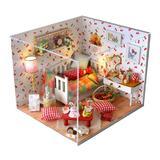 Joc interactiv, macheta casuta de asamblat, miniatura, DIY, cadou zi de nastere, aniversare, Autumn Fruit