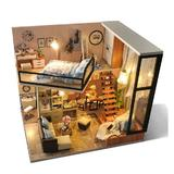 Joc educational, macheta casuta de asamblat, miniatura, DIY, Quiet loft and Life Dream