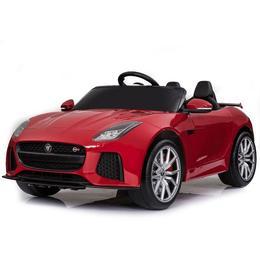 Masinuta electrica cu roti din cauciuc si licenta Jaguar F-type SVR Red