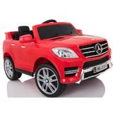 Masinuta electrica Mercedes Benz ML 350 cu scaun de piele Red