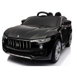 Masinuta electrica Maserati Levante cu scaun de piele si roti de cauciuc Black