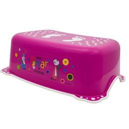 Inaltator anti-derapant pentru toaleta si chiuveta Little Bear and Friends Pink