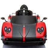 Masinua electrica Pagani Zonda cu telecomanda si roti din cauciuc Red