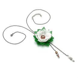 Colier lung pandantiv floare, Clopotel, Zia Fashion