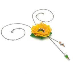 Colier lung pandantiv floare, Dalia, Zia Fashion