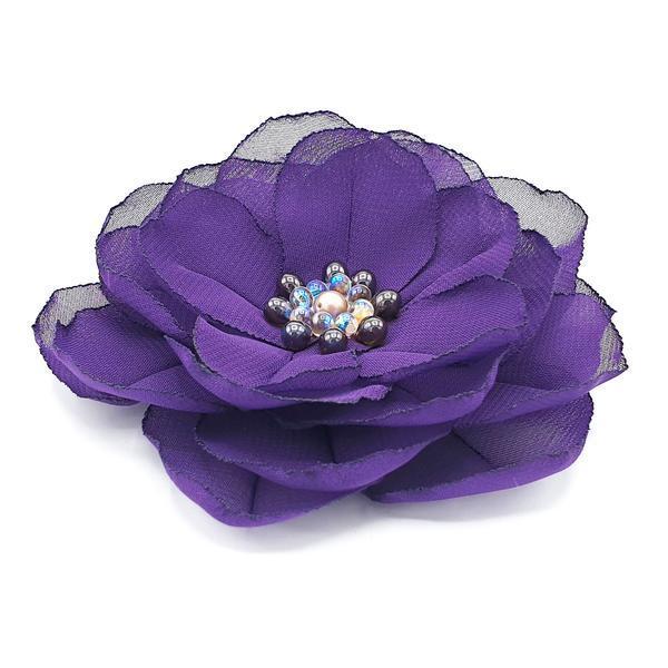Agrafa par floare mov handmade, Purple Flower, Zia Fashion imagine produs