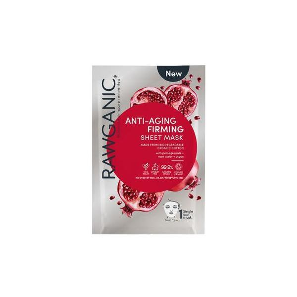 Masca Bio Anti-aging & Firming, Rawganic, Organic Cotton Sheet Mask 15g imagine produs