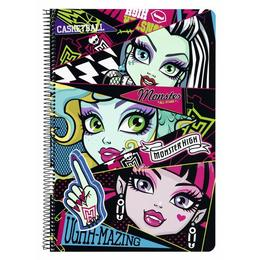 Caiet plastifiat Monster High All